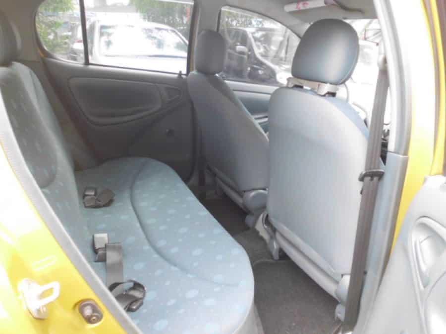 2001 Toyota Echo - Interior Rear View