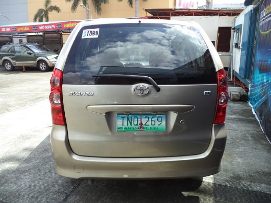 2011 Toyota Avanza - Rear View
