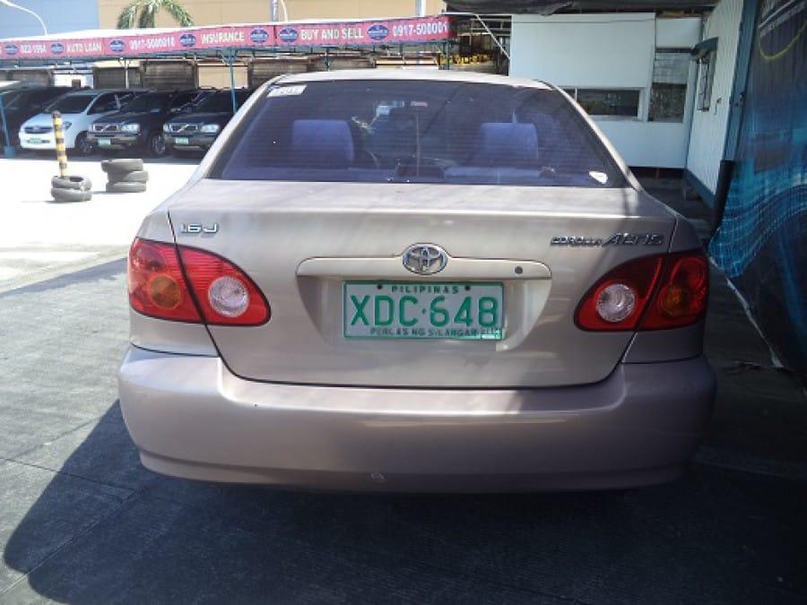 2001 Toyota Altis - Rear View