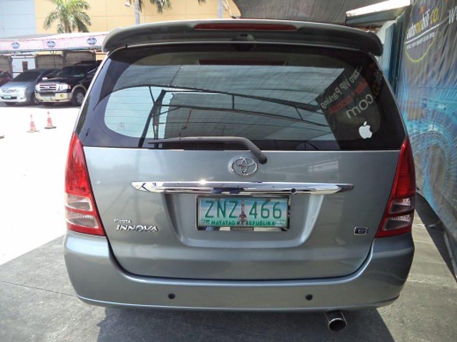2008 Toyota Innova G - Interior Rear View