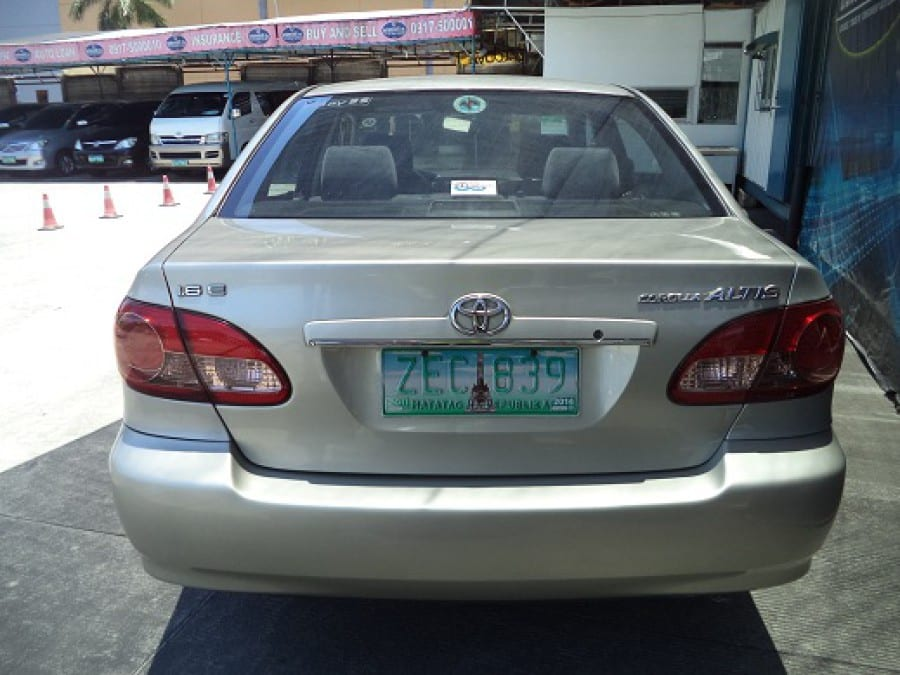 2006 Toyota Altis - Rear View