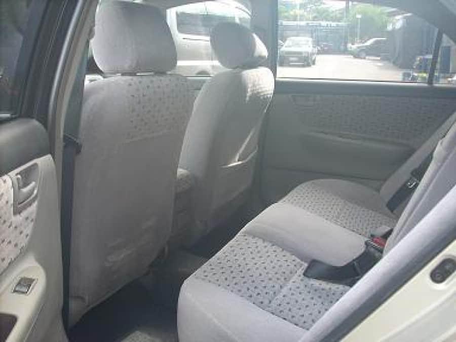 2001 Toyota Corolla Altis E - Interior Rear View
