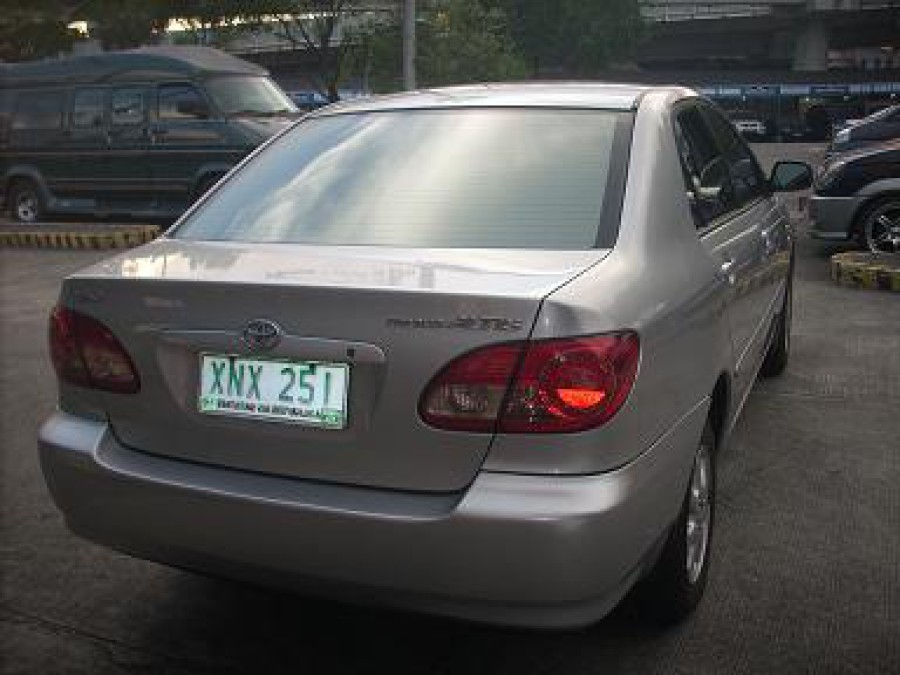 2004 Toyota Corolla Altis J - Rear View