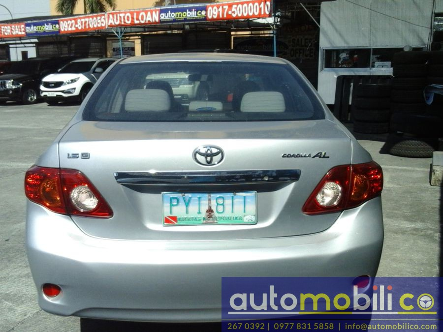 2010 Toyota Corolla Altis G - Rear View