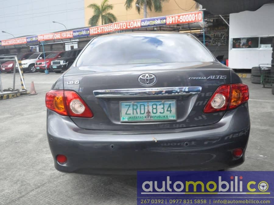 2008 Toyota Altis - Rear View