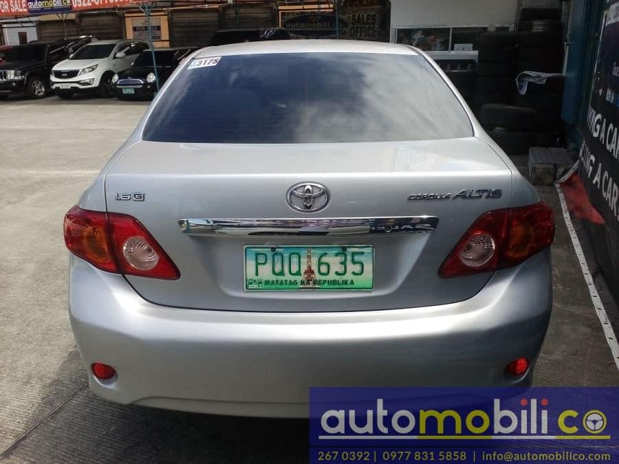 2010 Toyota Corolla Altis G - Rear View