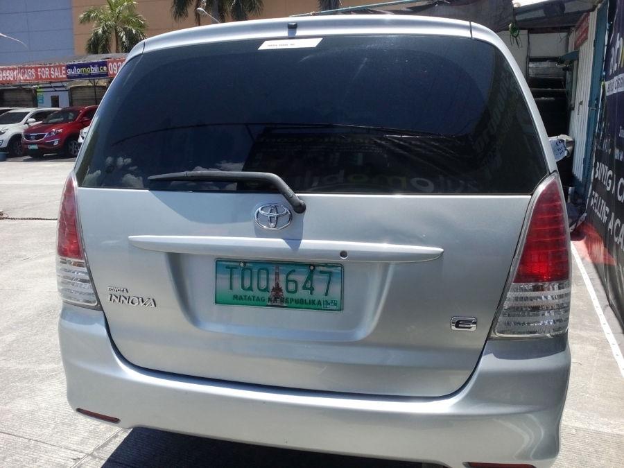 2012 Toyota Innova E - Rear View
