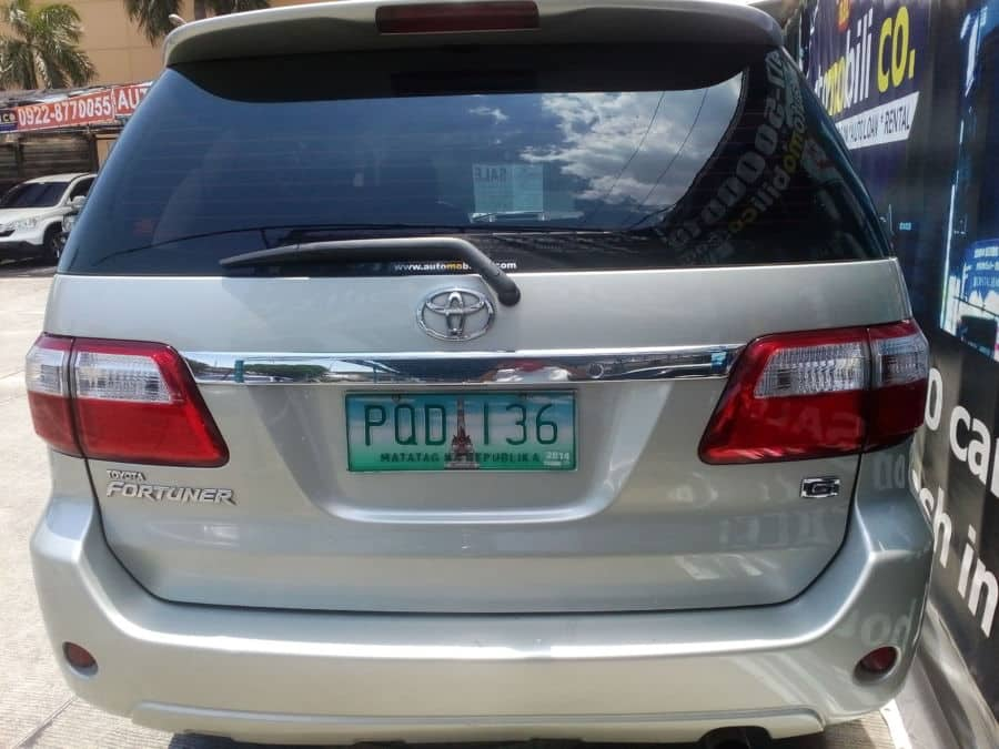 2011 Toyota Fortuner - Rear View