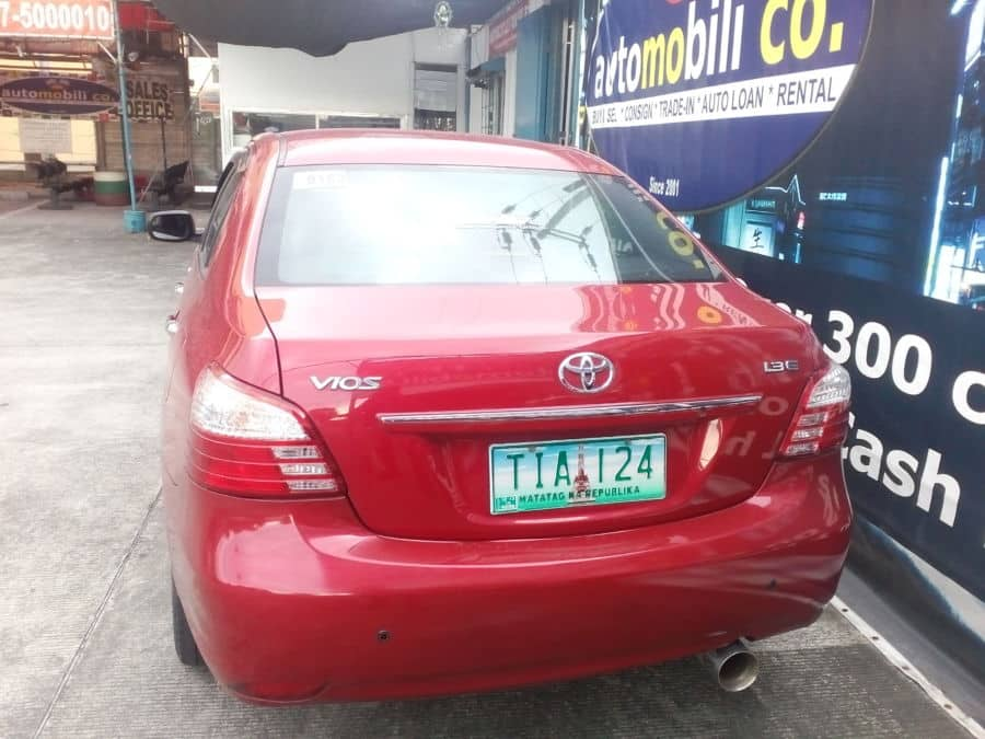 2012 Toyota Vios - Rear View