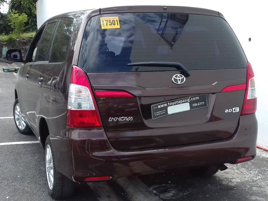2016 Toyota Innova E - Rear View