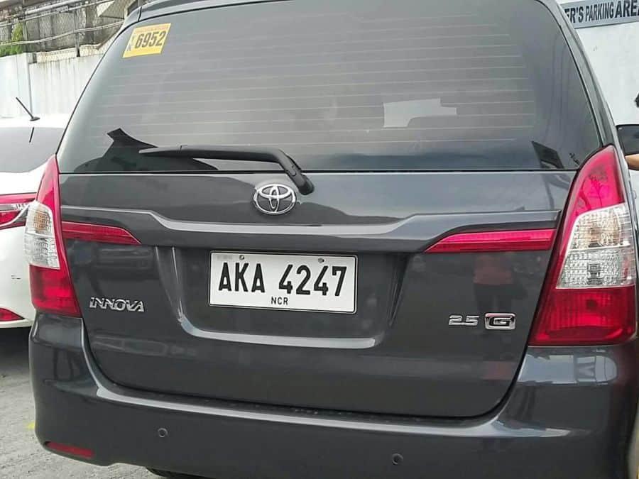 2015 Toyota Innova G - Rear View