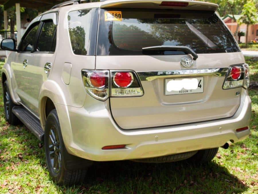 2015 Toyota Fortuner - Rear View