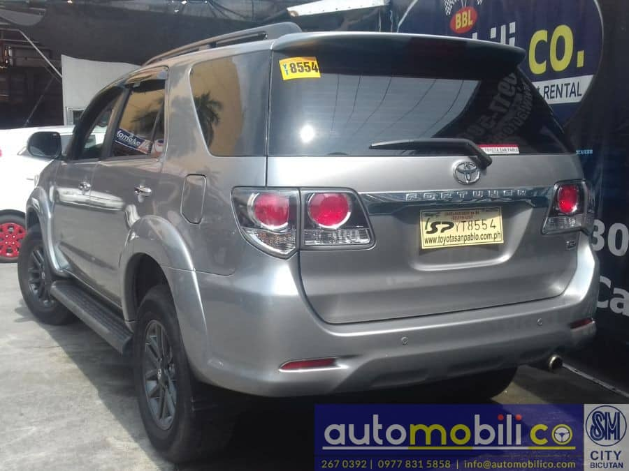 2016 Toyota Fortuner - Rear View