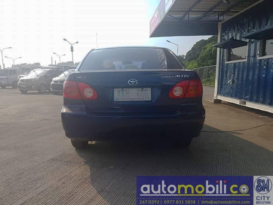 2003 Toyota Corolla Altis J - Rear View