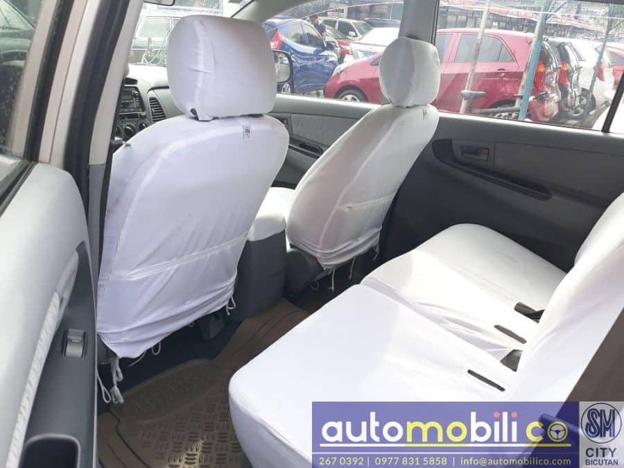 2010 Toyota Innova E - Interior Rear View