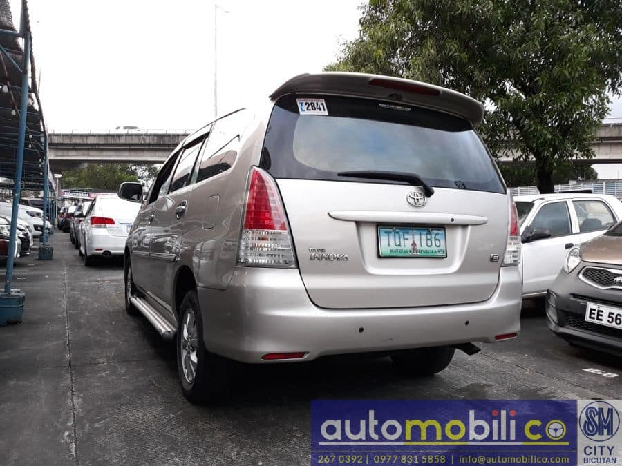 2012 Toyota Innova G - Rear View