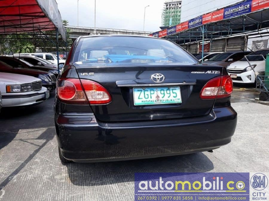 2007 Toyota Corolla Altis E - Rear View