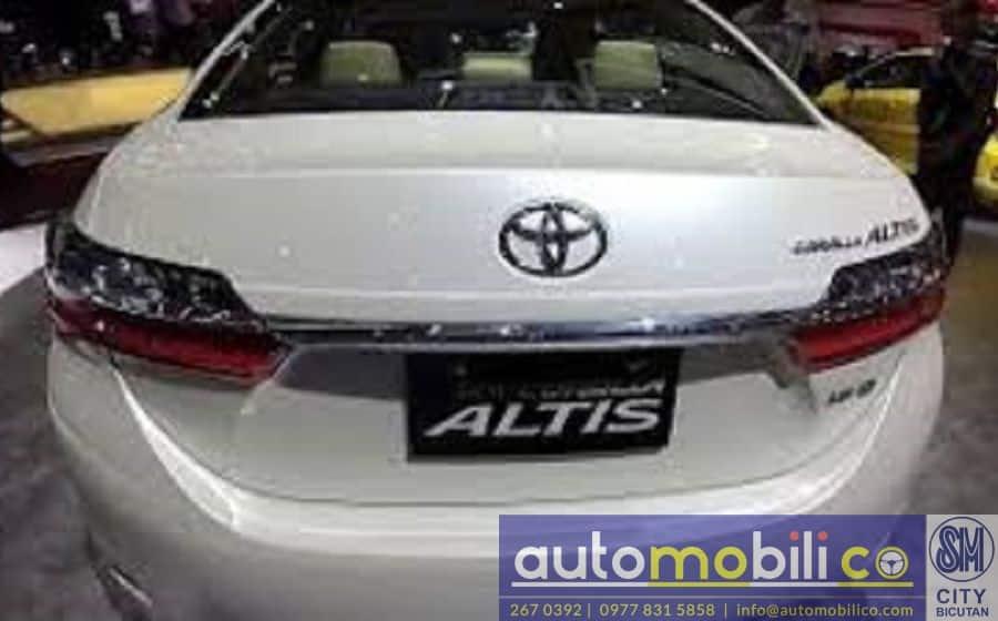 2018 Toyota Corolla Altis G - Rear View