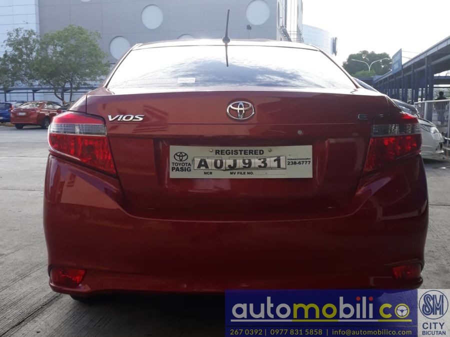 2017 Toyota Vios - Rear View