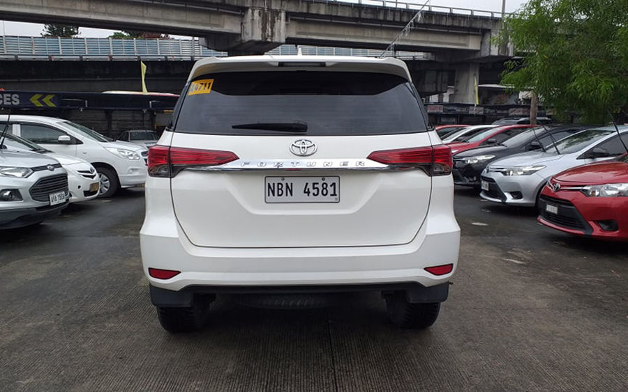 2017 Toyota fortuner G - Rear View