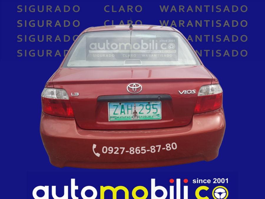 2005 Toyota Vios 1.3 J - Rear View