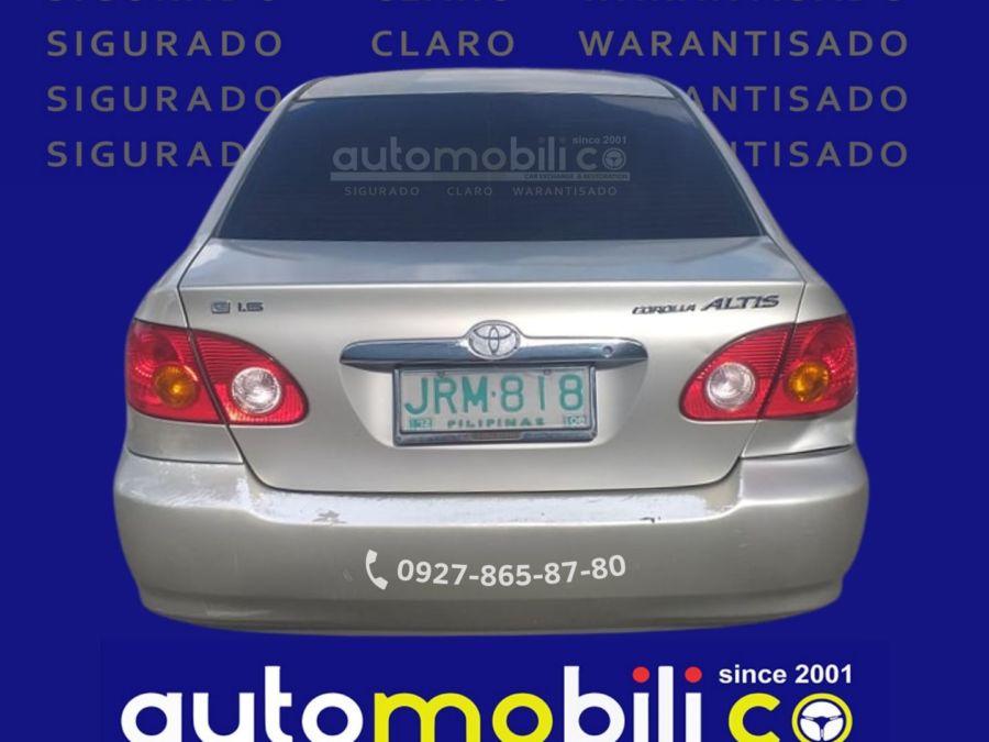 2001 Toyota Corolla Altis G - Rear View